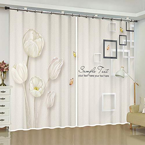 cortinas estampadas de flores