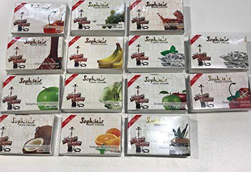 Pack 14 paquetes Shisha sin nicotina marca Sophie´s 50GR por paquete, total 700GR