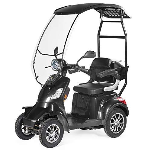 VELECO seniorenmobiel 4-wiel elektrische scooter met een dak 1000W FASTER zwart
