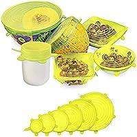 RabbitStorm Tapas Elásticas de Silicona, Envoltura Plástica Reutilizable Alternativa para Cubetas y Recipientes de...