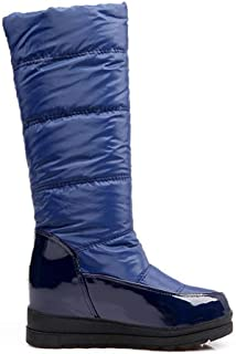 LaBiTi Women's Knee High Winter Boots with Fur Lined Collar and Interior Warm Shoes