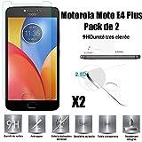 Scott-ES Motorola Moto E4 Plus Protector de Pantalla, [Lote 2] Vidrio Templado Cristal Protector para Motorola Moto E4 Plus