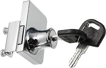 DOITOOL glazen deurslot zinklegering showcase slot display kast dubbele deurslot met 2 sleutels geen boor voor 5-8mm glaze...