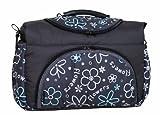 Wickeltasche PIA Baby-Joy XXL XXXL Übergroß Windeltasche Pflegetasche Babytasche Tragetasche TP-20 Graphit Blumen IV