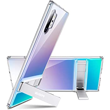 """ESR Metal Kickstand Compatible with Galaxy Note 10 Plus Case, Vertical and Horizontal Stand, Reinforced Drop Protection,Flexible TPU Case for Samsung Galaxy Note 10+ / 10 Plus / 5G 6.8"""" (2019),Clear"""