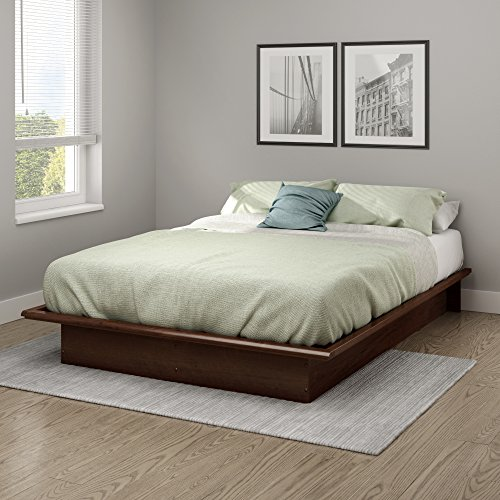 """South Shore Step One Full Platform Bed (54''), 54"""", Sumptuous Cherry"""