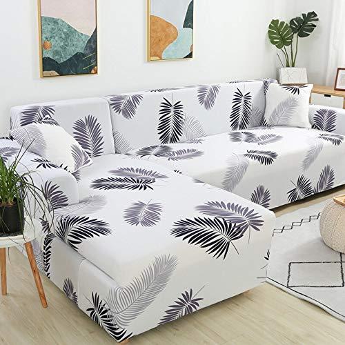 ASCV Geometrische Eck-Sofabezüge für Wohnzimmer Elastische Schonbezüge Couchbezug Stretch-Sofa Handtuch L Form Need Buy 2Pieces A1 3-Sitzer