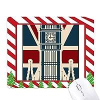 ロンドンのビッグベンのユニオンジャック英国英国 ゴムクリスマスキャンディマウスパッド