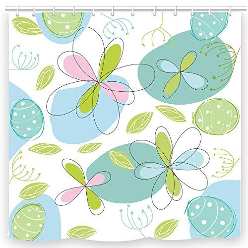 UNIFEEL Duschvorhang, Periodensystem mit Elementen, Weiß gelbgrün