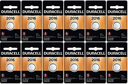 12-Pack Duracell 2016 Batteries 3.0 Volt Lithium...