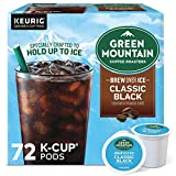 Green Mountain Coffee Roasters Brew Over Ice Classic Black, Single Serve Keurig K-Cup Pods, Dark...