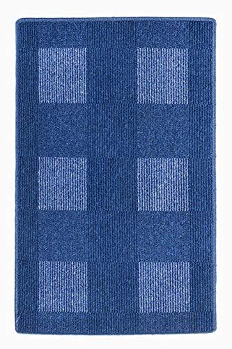 andiamo, tapijt plat weefsel Dalia duurzaam, getest op schadelijke stoffen 67 x 120 cm blauw