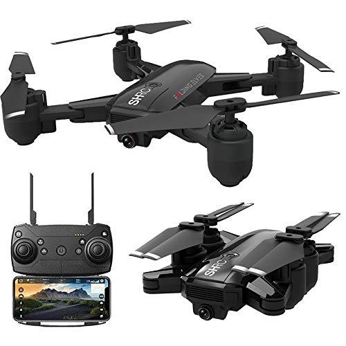 Comie RC Quadrocopter, 4K Kamera Höhenhalter Optical Flow Faltbare WiFi FPV RC Quadrocopter Drohnen Professionelle GPS Follow Me Für SHRC H1 Drohne (Schwarz)