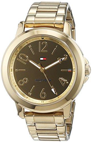 Tommy Hilfiger Damen Datum klassisch Quarz Uhr mit Edelstahl Armband 1781751
