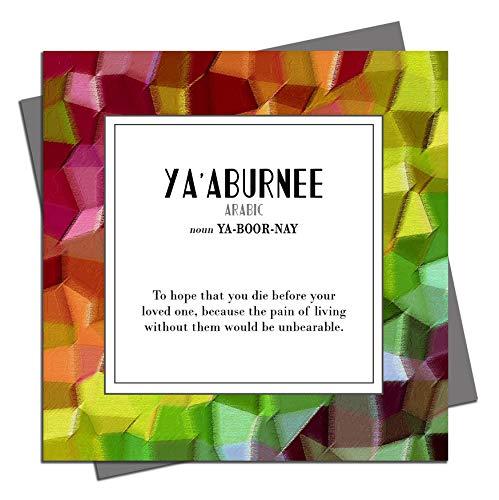 """Ya'aburnee Geburtstagskarte, mit englischer Aufschrift """"Found in Übersetzung"""", blanko, für Anlässe, Sprache, Arabisch"""