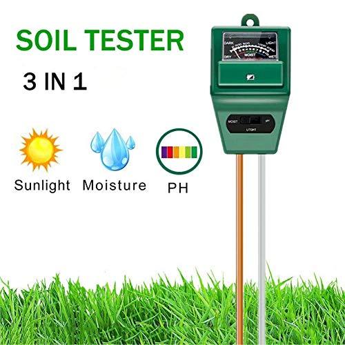 PSATO 3-in-1 Sol testeur PH Soleil Humidimètre Kit pour Jardin Pelouse Plantes Ferme Herbes Soin intérieur extérieur (sans Pile)