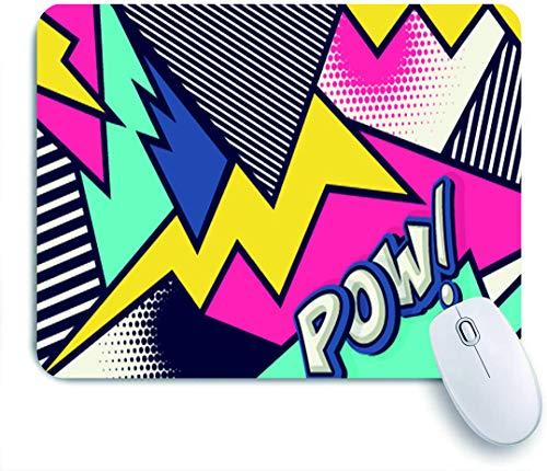 SUHOM Gaming Mouse Pad Rutschfeste Gummibasis,Mick Pow Pop Art lustige Rede,für Computer Laptop Office Desk,240 x 200mm
