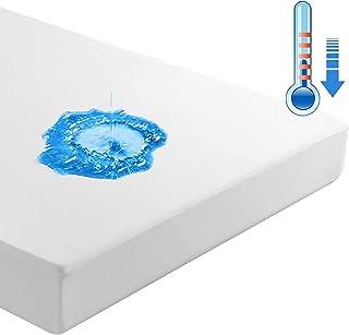 Beedsooth Tencel Protège Matelas Imperméable, Respirant Hypoallergénique Silencieux Drap Housse Matelas - 60x120cm, Blanc