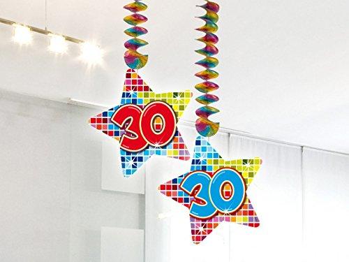 2-delige verjaardag hangdecoratie 30 jaar slinger party decoratie