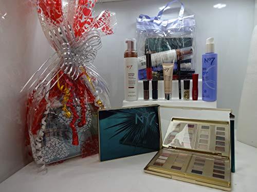 N ° 7 la beauté ultime Collection Époustouflants Ensemble cadeau Panier cadeau + Gratuit Transparent Make Up Sac