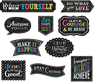 Chalkboard Brights Clingy Thingies Positive Sayings Accents