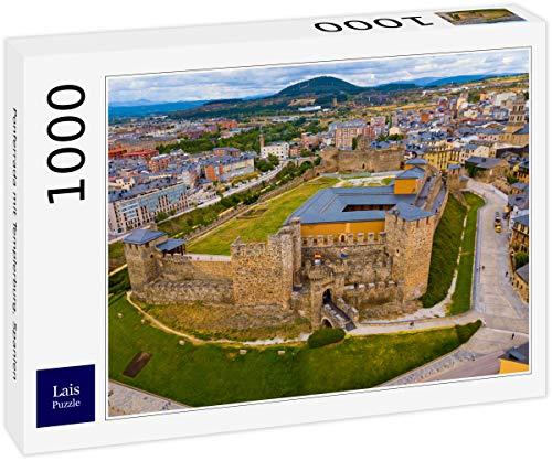 Lais Puzzle Ponferrada con el Castillo templario, España 1000 Piezas