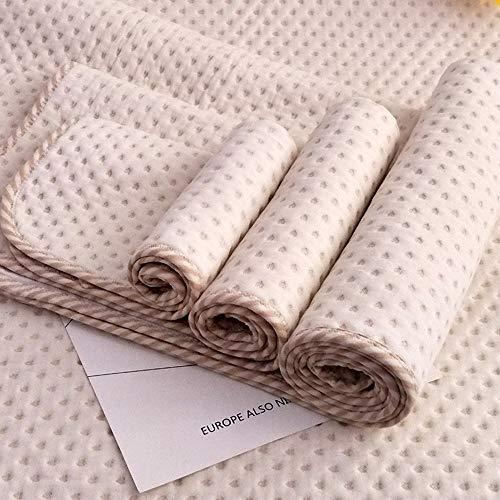 Baby Wasserdicht Matte Wickelauflage - Baumwolle Atmungsaktiv Wiederverwendbar Matratze Pad Matratzenbezug, 50 * 70 cm/70 * 110 cm (S/35 * 45 cm)