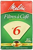 Melitta Cone Coffee Filters, Natural Brown, No. 6, 40 Count Filters