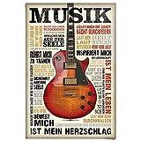 Poster Musik ist Leidenschaft - Papier 61 x 91.5 cm Braun