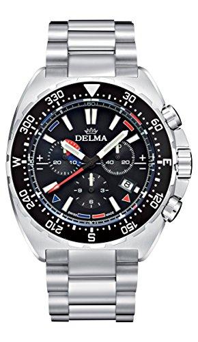 Delma Sportuhr Herren Chronograph Analog Quarz Metallarmband - 407075