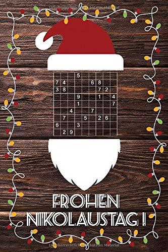 Sudoku vom Nikolaus gebracht: Kleines Rätselbuch in A6 Format | Tolles Nikolausgeschenk für Erwachsene | Passt in den Stiefel