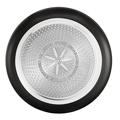 Lagostina Línea Rojo - Olla wok para vitro cerámica, gas, inducción, placas eléctricas, 1 pieza de 28 cm.