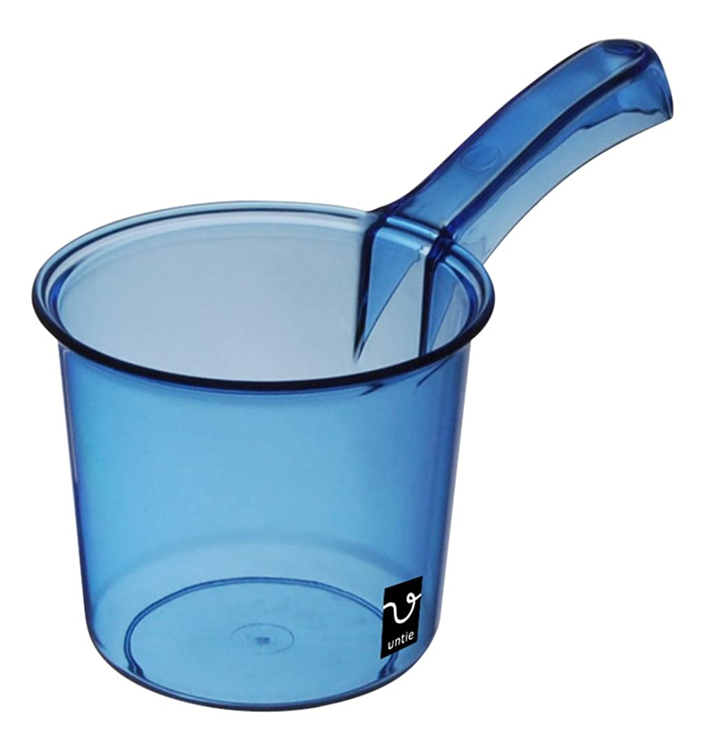 うまくやる()ごめんなさい火山学シンカテック 手桶 S アンティクリスタル ブルー