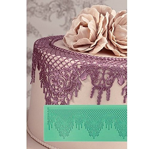 Cake Company Pavoni Magic Decor Silikonmatte für essbare Spitzen-Deko, 135 x 368 mm, Silikon-Matte...