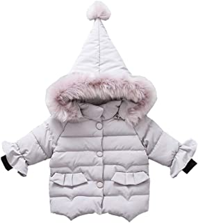 Fairy Baby Toddler Baby Girls Winter Puffer Jacket Outwear Thick Hooded Snowsuit