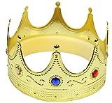 Foxxeo goldene Königskrone für Kinder und Erwachsene - Karneval König Krone Crown Herren Jungen...