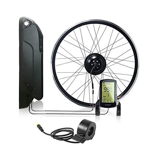 OUYA Kit de conversión de Bicicleta eléctrica con batería, 12.8AH 36V 350W Kit de conversión de Bicicleta eléctrica con Control de Cubo de Motor sin escobillas, para MTB y Bicicleta de Carretera,29''