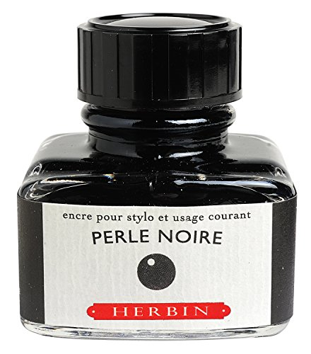 J. Herbin Fountain Pen Ink - 30 ml Bottled - Perle Noire