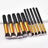 Pakopjxnx base de polvo líquido rubor cejas sombra maquillaje maquillaje cepillo 10 piezas/set de belleza maquillaje cepillo herramienta