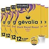 Gevalia Dark Royal Roast K-Cup Coffee Pods (72 Pods, 6 Packs of 12)