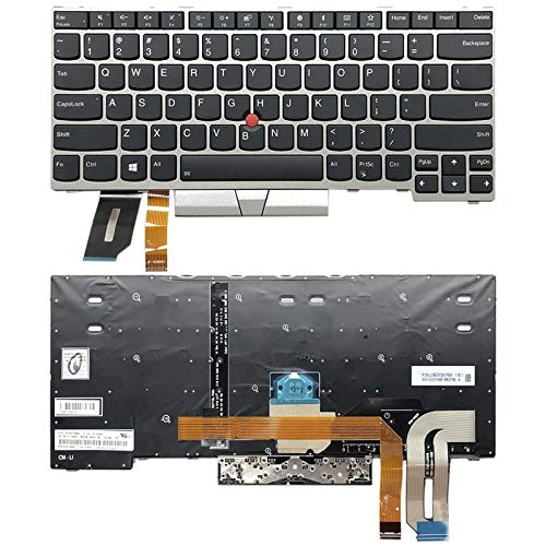 FXH Probado estrictamente Teclado de Estados Unidos de luz de Fondo for T480s Yoga Lenove ThinkPad E480 L480 L380 (Plata) taizhan (Color : Silver)