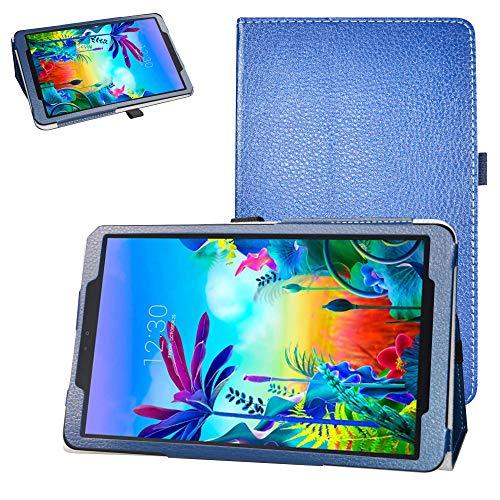 Schutzhülle für LG G Pad 5 10.1 T600 Tablet (2019) 25,7 cm (10,1 Zoll) (PU-Leder, Standfunktion) blau dunkelblau