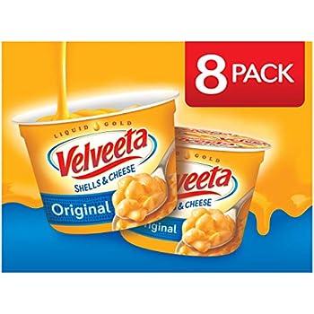 Velveeta Shells & Cheese Original Microwavable Shell Pasta & Cheese Sauce  8 ct Pack 2.39 oz Cups