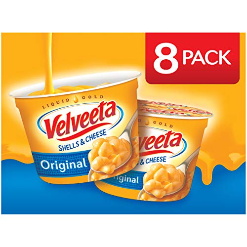 VELVEETA Original Microwavable Shells & Cheese Cups, 8 Count Box | Single...
