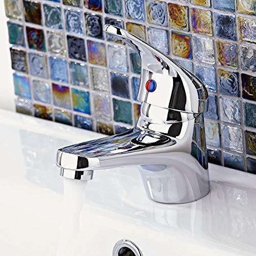 Wasserhahn Einhebel Armatur Waschtischarmatur Waschbeckenarmatur Waschtisch Mischbatterie für Bad Chrom - 5