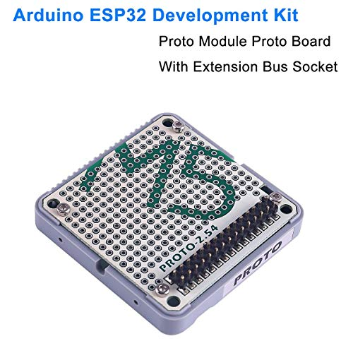 ARCELI Carte de développement ESP32 Offre de Stock Officielle Proto Module Carte de prototypage avec Prise de Bus d'extension pour kit de développement Arduino ESP32 M5Stack
