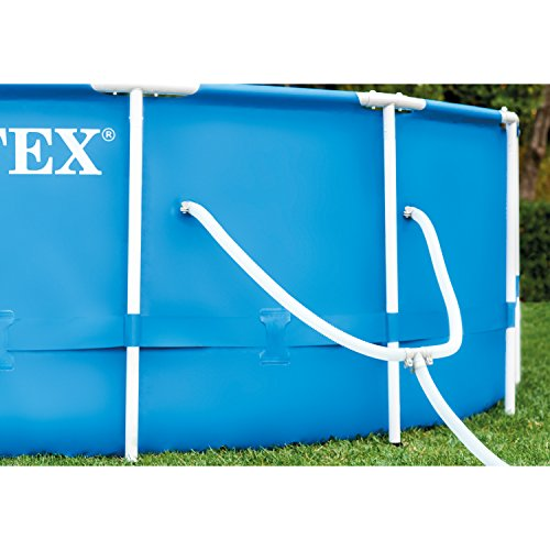 Intex 15ft X 48in Metal Frame Pool Set with Filter Pump, Ladder, Ground Cloth & Pool Cover