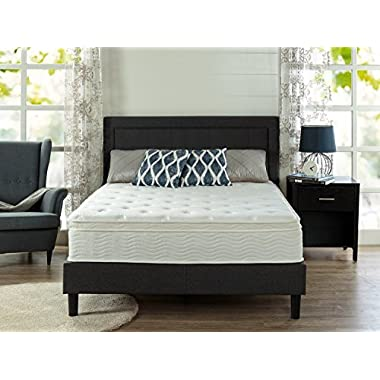 Zinus Ultima Comfort 12 Inch Euro Box Top Spring Mattress, Queen
