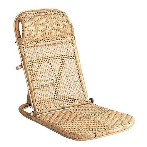 ALUNYAN Sillas de playa para adultos plegables de ratán con respaldo ajustable, sillas de salón para exteriores, sillas de camping para relajarse al aire libre y bronceado