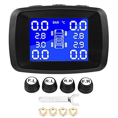Auto-TPMS-systeem, bandenspanningscontrolesysteem, sigarettenaansteker, LCD-monitor met 4 externe sensoren
